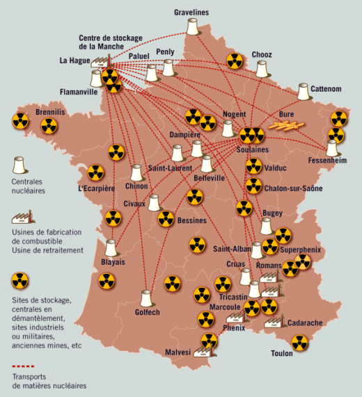 La question du nucléaire carte-france-nucleaire